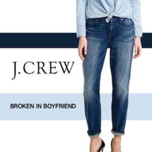 J. Crew Broken in Boyfriend Jean